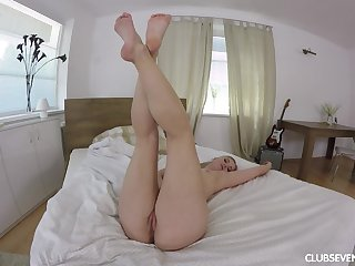 Nothing pleases destructive girl Violette Pink like fingers on her wet pussy