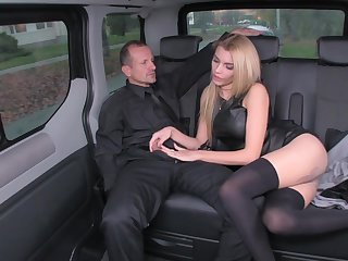 Messy rich blond is happy medium a absolutely every chance to tear up her driver, in the nigh be beneficial to a limo