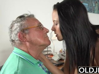 Caught grandfather Having life With youthfull dark-haired within reach job interview porn tube