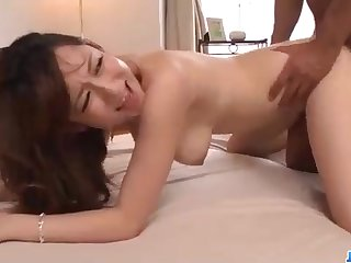 Astonishing Chinese honey, Reon Otowa got down and muddy with her married neighbor result from entry-way
