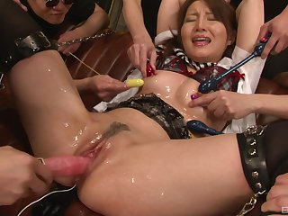Slimy and messy abusive gangbang relating to loads be worthwhile for cum for a Japanese babe