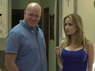 Sexy milf Tara Morgan fucks sexy stepdaughter while her husband is out
