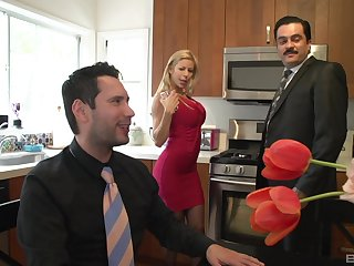 MILF in stockings Alexis Fawx takes every last drop in her frowardness
