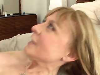 Busty cougar seduces there stockings and a colours
