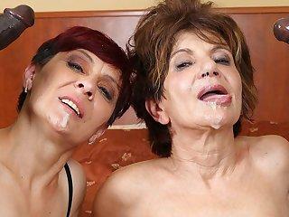Grannies Hardcore Fucked Interracial Porn with Venerable Women sex