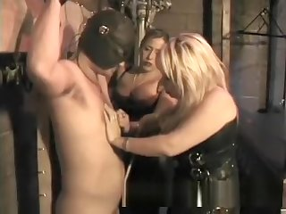 Duo chubby dominas back a horny stud a no great shakes spanking