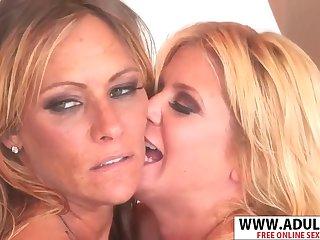 Busty MILF Lesbians Hot Porn
