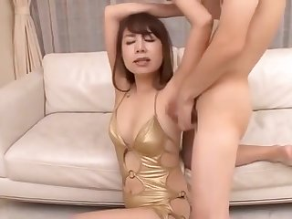 Jav Armpit Lick Fetish With Golden Lingerie girl.