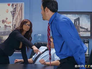 Syren De Mer adores having good sex with her horny boss in get under one's office