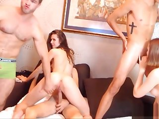 College Couples Win Kinky take their Room