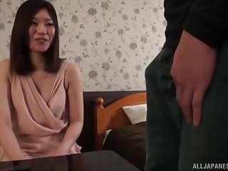 Kuroki Ikumi has insatiable objective for penis today so she calls her friend