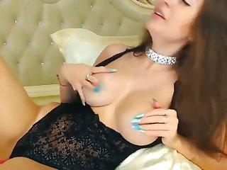 simmering babe pleasures a dildo with lush vibrator