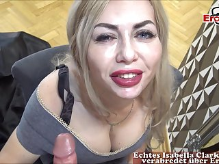 german blonde milf be wild about at mirror casting