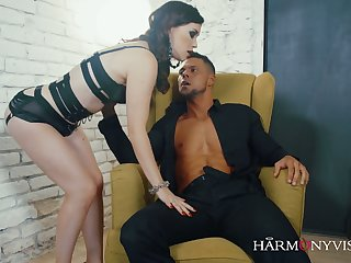 Tattooed whore wife Misha Cros puts on sexy lingerie and bangs their way husband