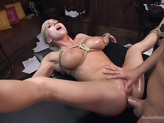 Christie Stevens gets fucked by hard friend's penis greatest extent she moans