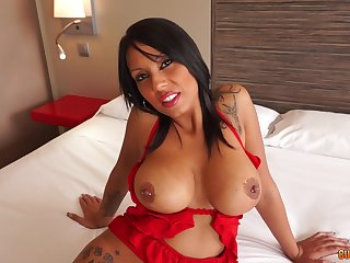 Busty milf plays rough relative to young man's huge detect