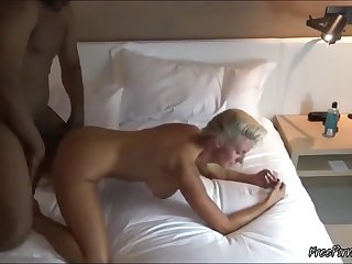 Well-endowed Blonde Slut Tie the knot Taking BBC In Front Be beneficial to Her Cuck Husband
