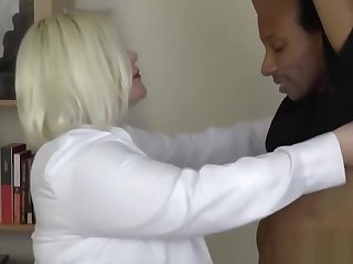Water down GILF with obese tits impaled deep on hard black dick