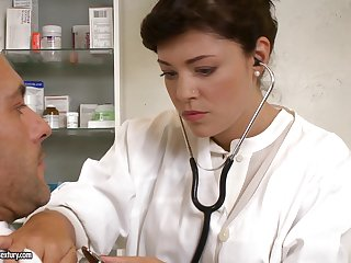 Beautiful doctor Ava Dalush fucks her patient encircling such vigor and love