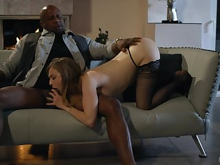 Evening near the energizing place includes interracial doggy fuck be proper of Karla Kush