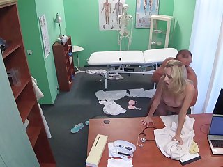 Pure passion for cock with a atrophied blonde who knows a lot