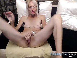 Horny granny masturbate