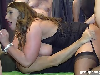 Sluts share enclosing be required of themselves during guestimated group banging
