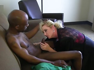 Mature white wife in love with his big black dick
