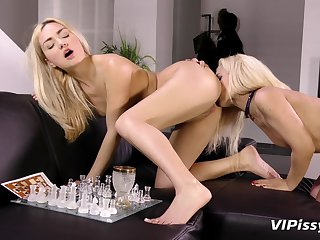 Lesbian video approximately piss drinking sluts Puppy and Jessyca. HD