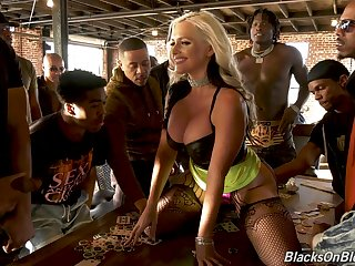 Profane interracial gang bang suits well be required of really voracious MILF Alena Croft
