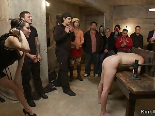 Dark Haired Lady bitch is ass enjoyment from nailed in public