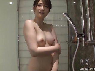 Amatuer tie the knot Ikushima Ryou takes a shower far an increment of teases far her cunt