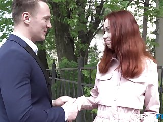 Russian teen redhead Lagoon Blaze likes to be hung up on