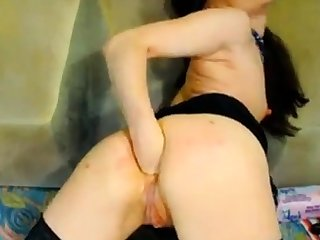 Hot Russian mature fisting on the top of webcam