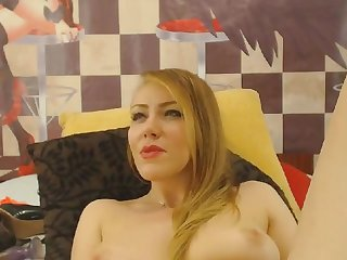 Blonde hot milf dildoing pussy until she cums lasting