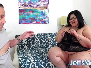 SSBBW Bifocals Blue Is a Perverted Panty Fetishist Who Wants Her Botheration Fucked