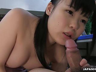 Japanese Teen Brunette, Sayaka Aishiro Is Giving Sex Classes, Uncensored